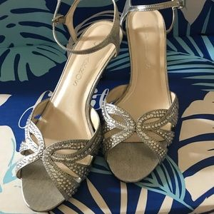 """Silver 3"""" Party shoes"""